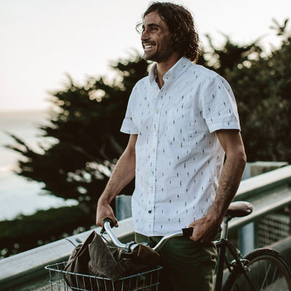 The Short Sleeve Jack in Tree Top Poplin: Alternate Image 1