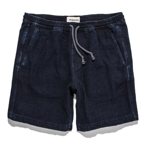 The Après Short in Indigo Crepe - featured image