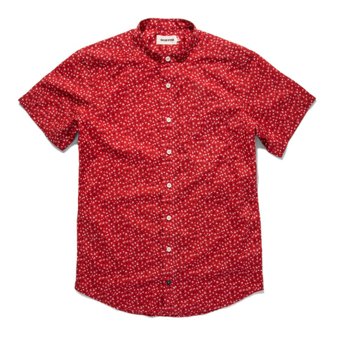 The Short Sleeve Bandit in Red Mini Floral - featured image
