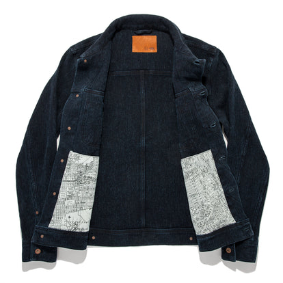 The Long Haul Jacket in Indigo Waffle: Alternate Image 12