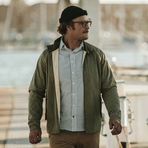 The Montara Jacket in Hunter - alternate view