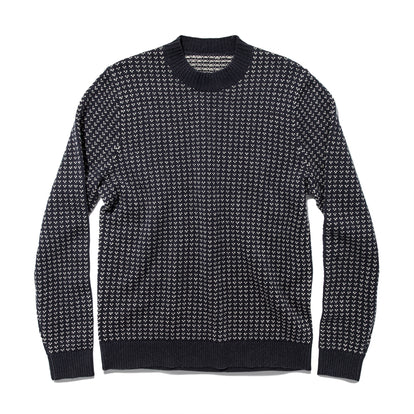 The Rangeley Sweater in Navy Cash Merino: Featured Image