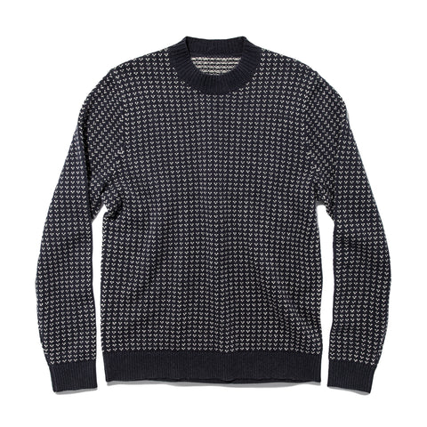 The Rangeley Sweater in Navy Cash Merino - featured image