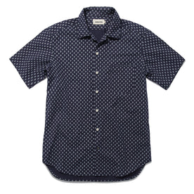 The Short Sleeve Hawthorne in Navy Floral: Featured Image