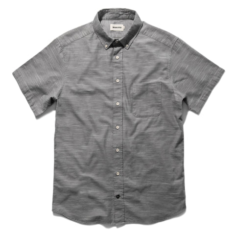 The Short Sleeve Jack in Grey Dobby - featured image