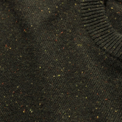 The Hardtack Sweater in Olive Cashmere Donegal: Alternate Image 6