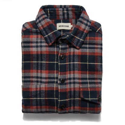 The Crater Shirt in Burgundy Plaid