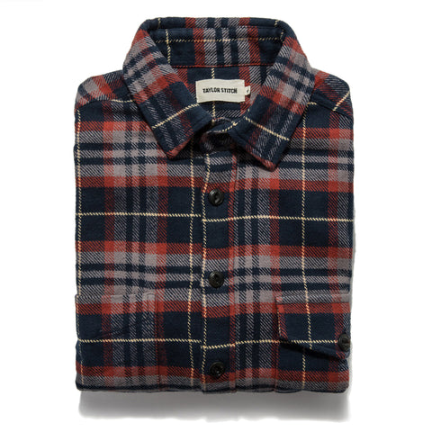 The Crater Shirt in Burgundy Plaid - featured image