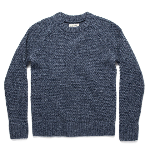 The Fisherman Sweater in Navy Melange - featured image