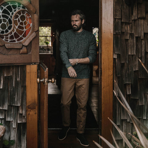 The Lodge Sweater in Charcoal - alternate view