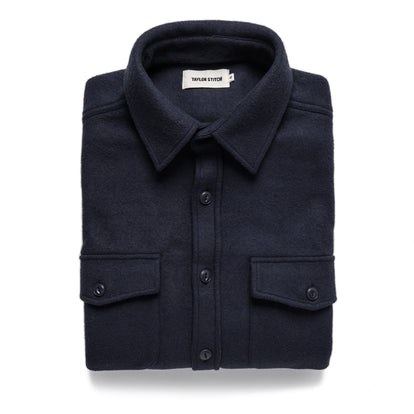 The Maritime Shirt Jacket in Navy: Featured Image