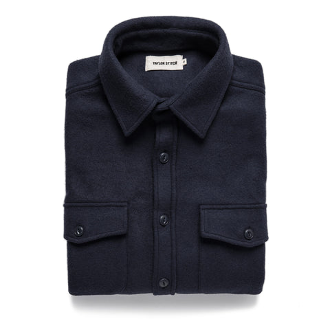 The Maritime Shirt Jacket in Navy - featured image