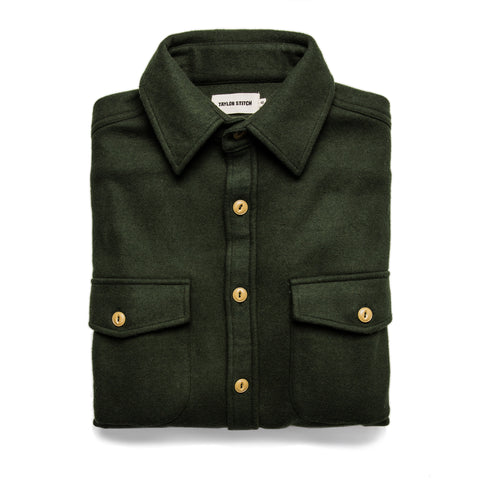 The Maritime Shirt Jacket in Olive - featured image