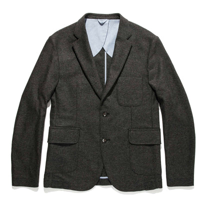 The Telegraph Jacket in Charcoal Herringbone: Featured Image