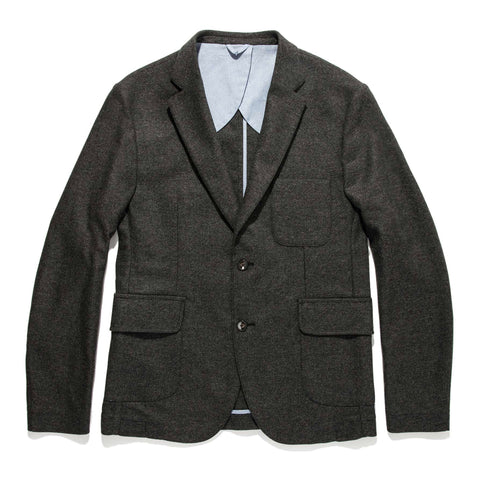 The Telegraph Jacket in Charcoal Herringbone - featured image