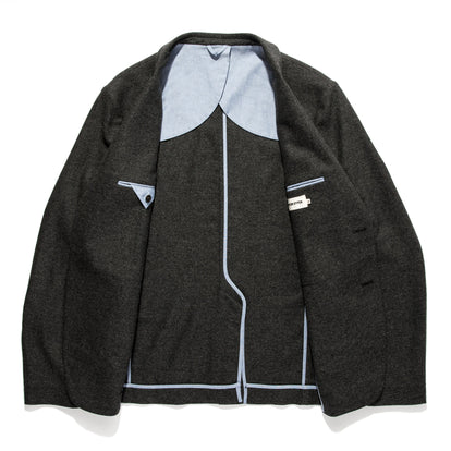 The Telegraph Jacket in Charcoal Herringbone: Alternate Image 11