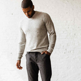 The Hardtack Sweater in Polar Yak Donegal - featured image