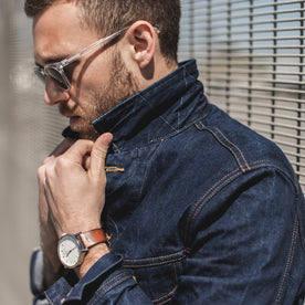 The Long Haul Jacket in 110 Year Denim - featured image