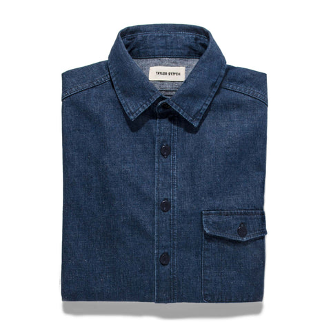 The Cash Shirt in Washed Selvage Denim - featured image