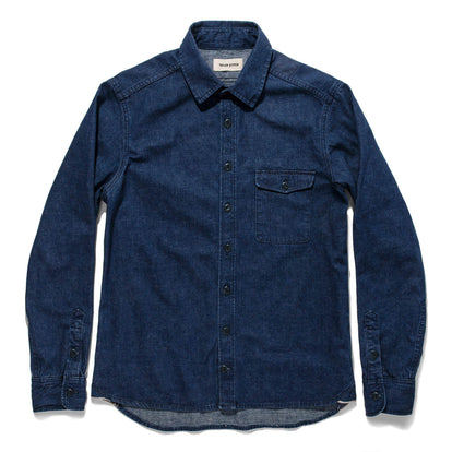 The Cash Shirt in Washed Selvage Denim: Alternate Image 8