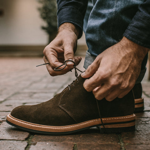 The Chukka in Weatherproof Loden Suede - alternate view