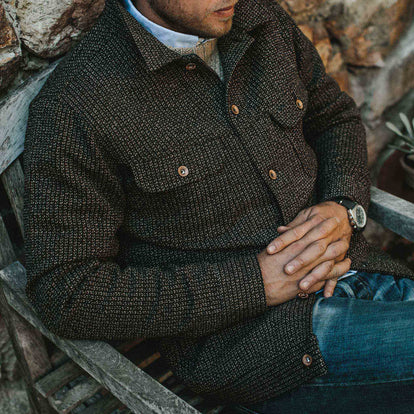Out fit model the Long Haul jacket