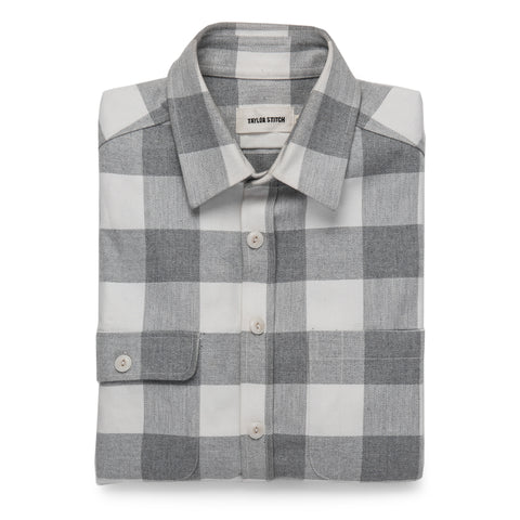 The Moto Utility Shirt in Ash & Natural Plaid - featured image