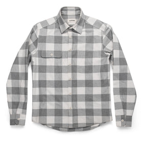 The Moto Utility Shirt in Ash & Natural Plaid