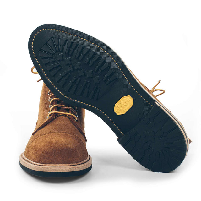 The Mark Boot in Peanut Oiled Rough Out