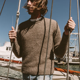 The Whaler Sweater in Alpaca Wool: Alternate Image 3