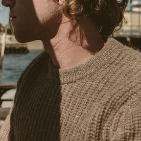 The Whaler Sweater in Alpaca Wool: Alternate Image 4
