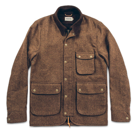 The Rover Jacket in Oak Herringbone Waxed Wool - featured image