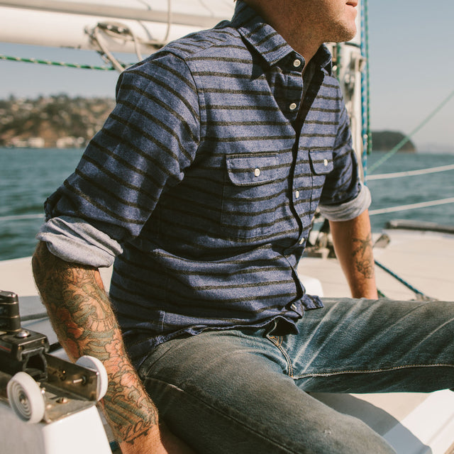 The California in Blue & Navy Stripe