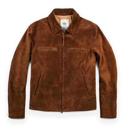 The Moto Jacket in Tobacco Weatherproof Suede