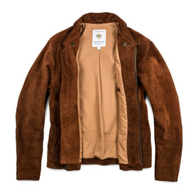 The Moto Jacket in Tobacco Weatherproof Suede: Alternate Image 15