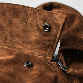 The Moto Jacket in Tobacco Weatherproof Suede: Alternate Image 9