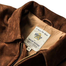 The Moto Jacket in Tobacco Weatherproof Suede: Alternate Image 11