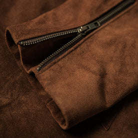 The Moto Jacket in Tobacco Weatherproof Suede: Alternate Image 8