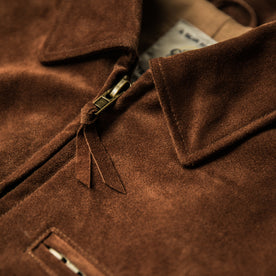 The Moto Jacket in Tobacco Weatherproof Suede: Alternate Image 13