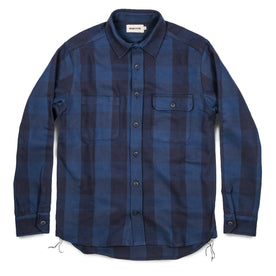 The Moto Utility Shirt in Royal & Navy Buffalo Plaid