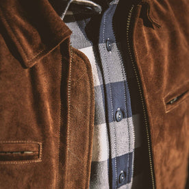 The Moto Jacket in Tobacco Weatherproof Suede: Alternate Image 6