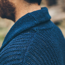 The Shawl Cardigan in Indigo Dipped Cotton: Alternate Image 3