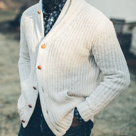 The Shawl Cardigan in Natural Cotton: Alternate Image 1