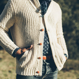 The Shawl Cardigan in Natural Cotton: Alternate Image 2
