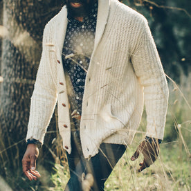 The Shawl Cardigan in Natural Cotton: Alternate Image 3