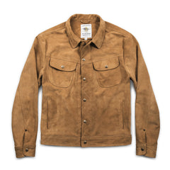 The Long Haul Jacket in Sand Weatherproof Suede