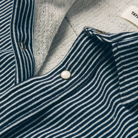 The Glacier Shirt in Hickory Stripe French Terry: Alternate Image 6