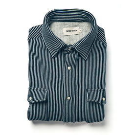 The Glacier Shirt in Hickory Stripe French Terry: Featured Image