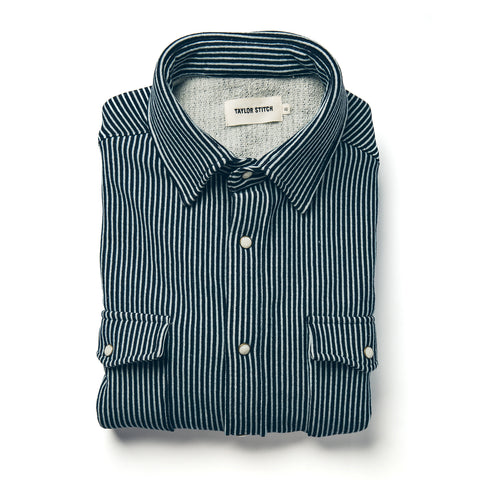 The Glacier Shirt in Hickory Stripe French Terry - featured image