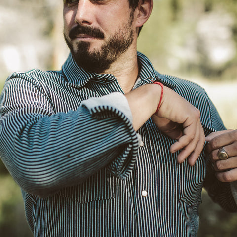The Glacier Shirt in Hickory Stripe French Terry - alternate view